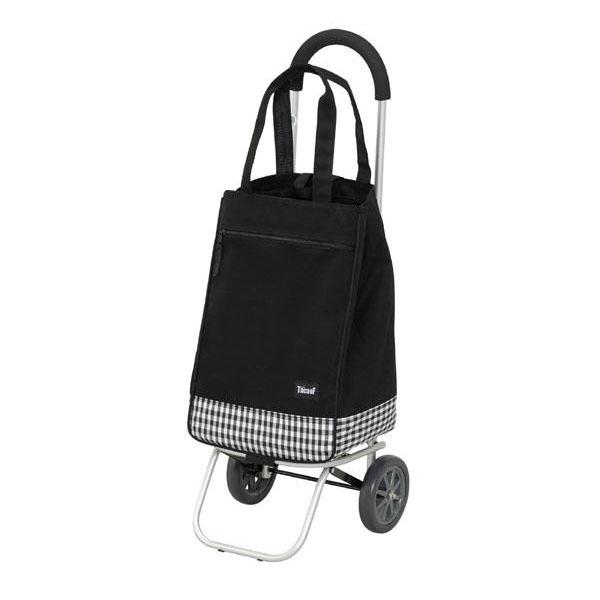 幸和製作所 テイコブ(TacaoF) アルミ製ショッピングカー(トートバックタイプ) ブラック PS102【同梱・代引き不可】