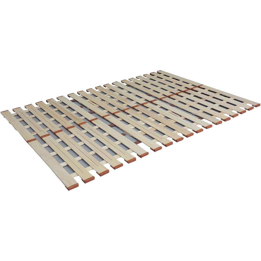 3つ折れマットレスに最適! 薄型軽量桐すのこベッド3つ折れ式 ダブル LYT-410【同梱・代引き不可】