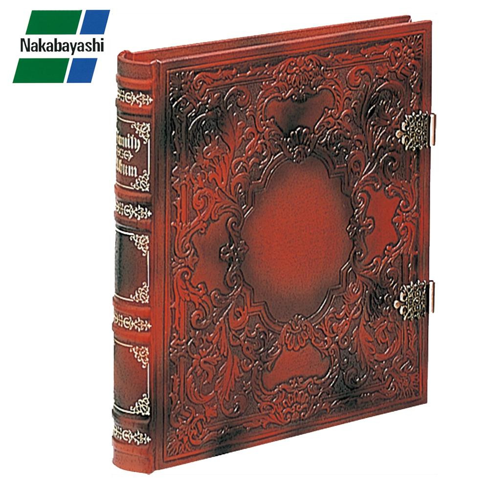 ナカバヤシ ブック式フリーアルバム バッキンガム レッド アH-GL-1501-R【同梱・代引き不可】