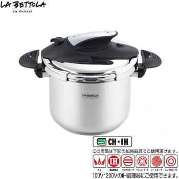大人気 調理の時間が大幅に短縮 ステンレス圧力鍋6L LB-158 代引き不可 ●手数料無料!! 同梱