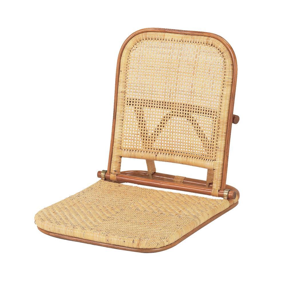 ★エントリーでP5倍 21日9:59迄★ 今枝ラタン 籐 折りたたみ式座椅子 ライトオーク NO-307A【同梱・代引き不可】