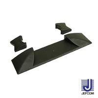 JEFCOMジェフコム ケーブルプロテクター ジョイントプロテクター(マルチ連結タイプ) 端末部 125×535×50mm JTP-5435-ED【同梱・代引き不可】
