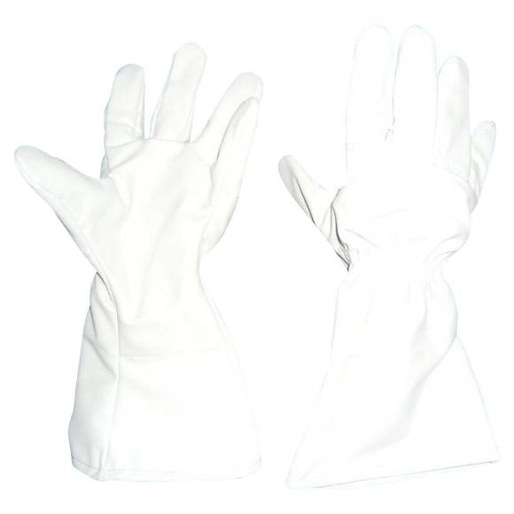 GABA 薔薇用突刺防止袖長手袋 フリーサイズ ライトグレー SP-5FB【同梱・代引き不可】