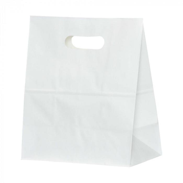 パックタケヤマ 紙袋 イーグリップLL 白無地 50枚×10包 XZT52024【同梱・代引き不可】