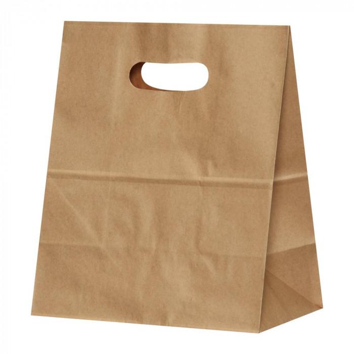パックタケヤマ 紙袋 イーグリップLL 茶無地 50枚×10包 XZT52026【同梱・代引き不可】