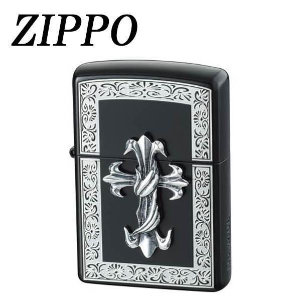 ZIPPO ハードメタル BKクロス【同梱・代引き不可】