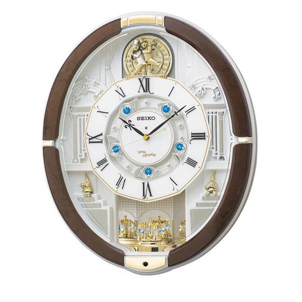 SEIKO セイコークロック 電波クロック からくり掛時計 ウエーブシンフォニー RE575B【同梱・代引き不可】