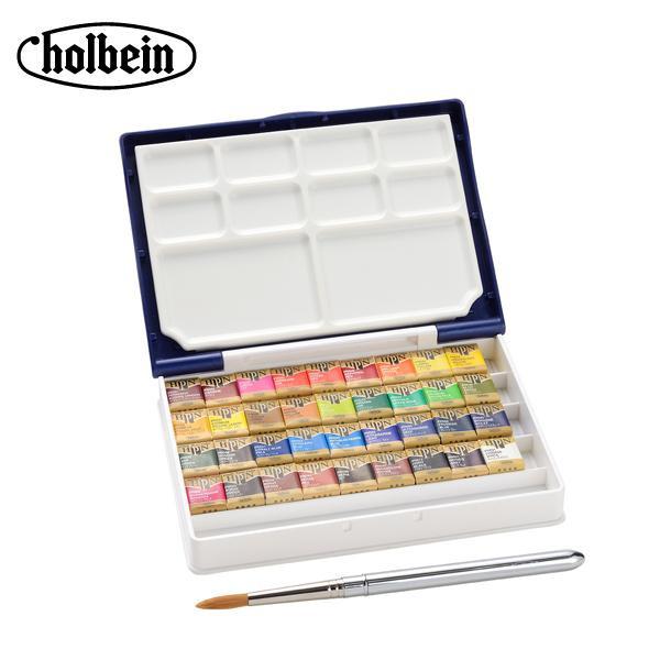 ホルベイン 固形水彩絵具 パンカラー PN698 36色セット(パームボックス プラス) 2698【同梱・代引き不可】
