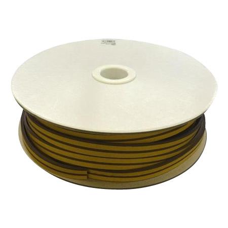 光 (HIKARI) 戸当り防音クッションテープ粘着付茶M型 4×18mm KM4-50W  50m【同梱・代引き不可】