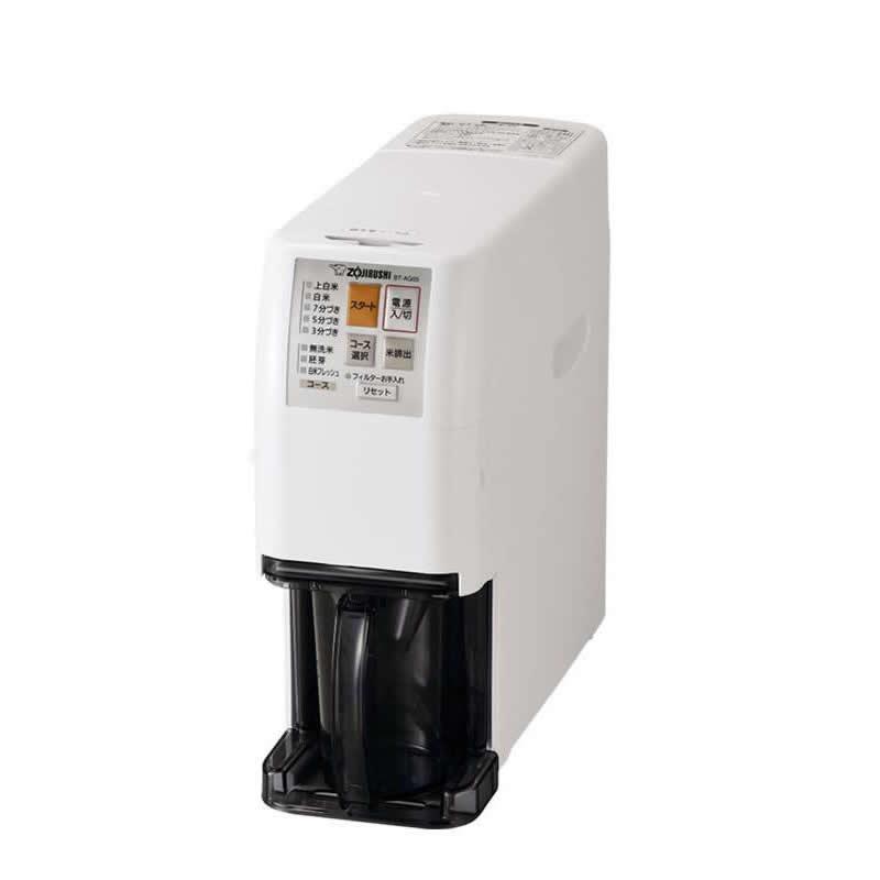 象印 家庭用 無洗米精米機 つきたて風味 ホワイト 2~5合 BT-AG05-WA【同梱・代引き不可】