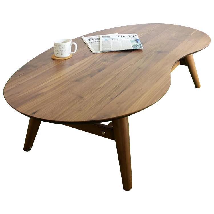 IKKA イッカ センターテーブル 90cm ウォールナット 90CT【同梱・代引き不可】