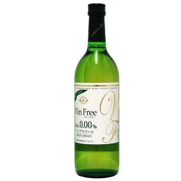 アルコールが苦手な方にも!! アルプス ノンアルコールワイン ヴァンフリー白 720ml 6本セット【同梱・代引き不可】