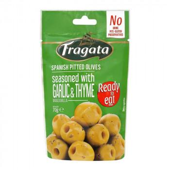 ガーリックとハーブがアクセントのおつまみです Fragata お値打ち価格で フラガタ グリーンオリーブ ガーリック 同梱 タイム 70g×8個セット 代引き不可 全店販売中