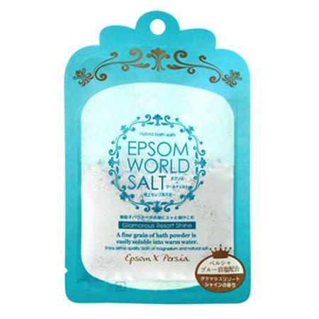 五洲薬品 入浴用化粧品 エプソムワールドソルト グラマラスリゾートシャインの香り (50g×10袋)×12箱(120袋入り) EWS-BL【同梱・代引き不可】