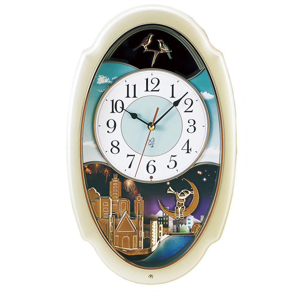 東出漆器 電波時計スイングアワー 1316【同梱・代引き不可】