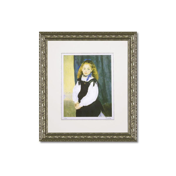 ユーパワー ミュージアムシリーズ(ジクレー版画) アートフレーム ルノワール 「ルグラン嬢の肖像」 MW-18038【同梱・代引き不可】