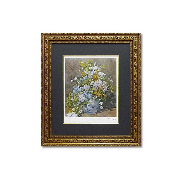 ユーパワー ミュージアムシリーズ(ジクレー版画) アートフレーム ルノワール 「大きなかびんの花」 MW-18065【同梱・代引き不可】