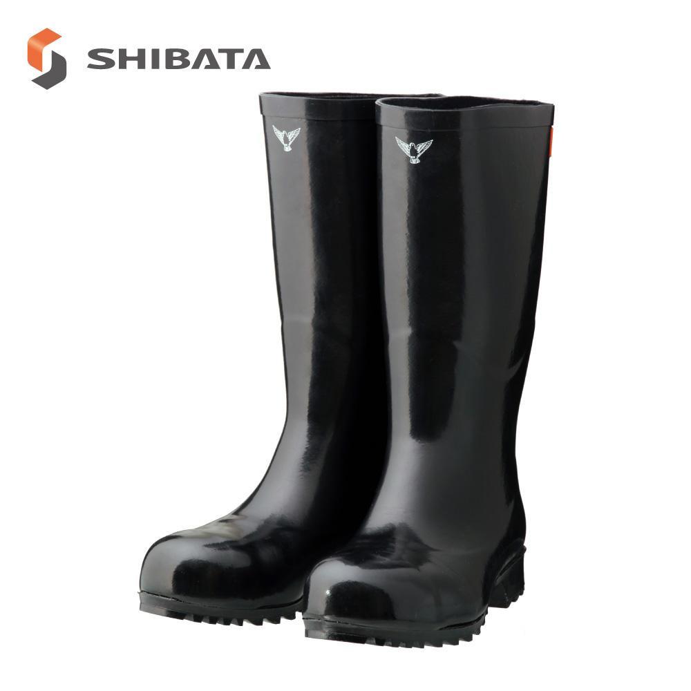 SHIBATA シバタ工業 安全長靴 AB021 安全大長 ブラック 24センチ【同梱・代引き不可】