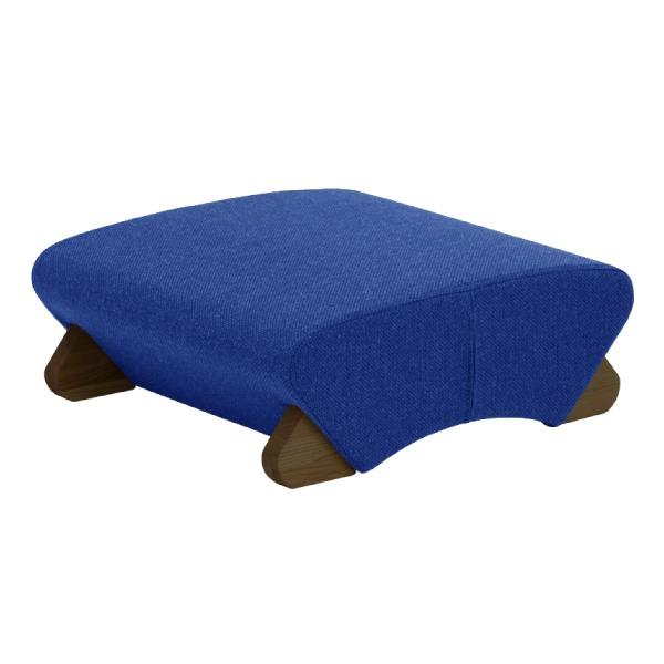 デザイン座椅子 脚:ダーク/布:ブルー 【Mona.Dee モナディー】WAS-F【同梱・代引不可】