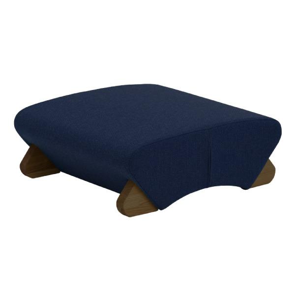デザイン座椅子 脚:ダーク/布:ネイビー 【Mona.Dee モナディー】WAS-F【同梱・代引不可】