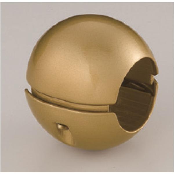 同梱・代金引換不可【10個セット】階段手すり滑り止め 『どこでもグリップ』ボール形 亜鉛合金 直径38mm AG シロクマ 日本製