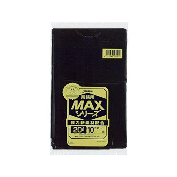同梱・代金引換不可業務用MAX20L 10枚入015HD+LD黒 S22 【(60袋×5ケース)合計300袋セット】 38-323