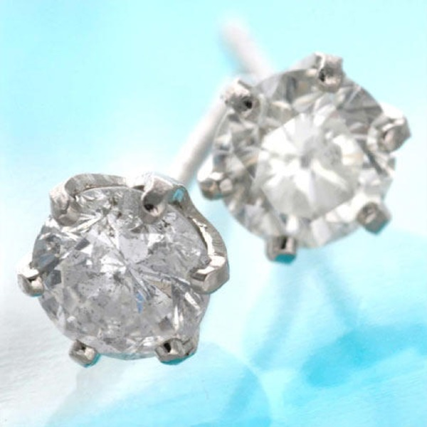 同梱・代金引換不可0.5ct ダイヤモンドピアス プラチナピアス