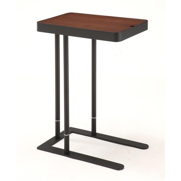 あずま工芸 Noel(ノエル) サイドテーブル 収納付き ダークブラウン SST-810【同梱・代引不可】