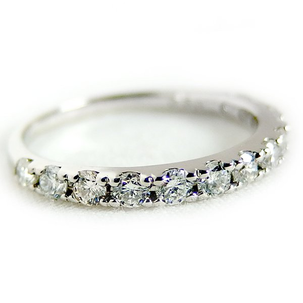 同梱・代金引換不可 ダイヤモンド リング ハーフエタニティ 0.5ct 10号 プラチナ Pt900 ハーフエタニティリング 指輪
