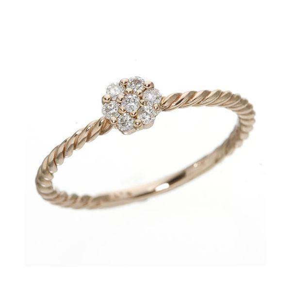 k18ダイヤリング 指輪 PG ピンクゴールド7号同梱・qzUpSGVM