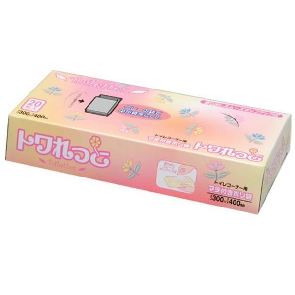 トワれっとBOX20枚入マチ付02LLDグレー SS06 【(120袋×5ケース)600袋セット】 38-347【同梱・代金引換不可】