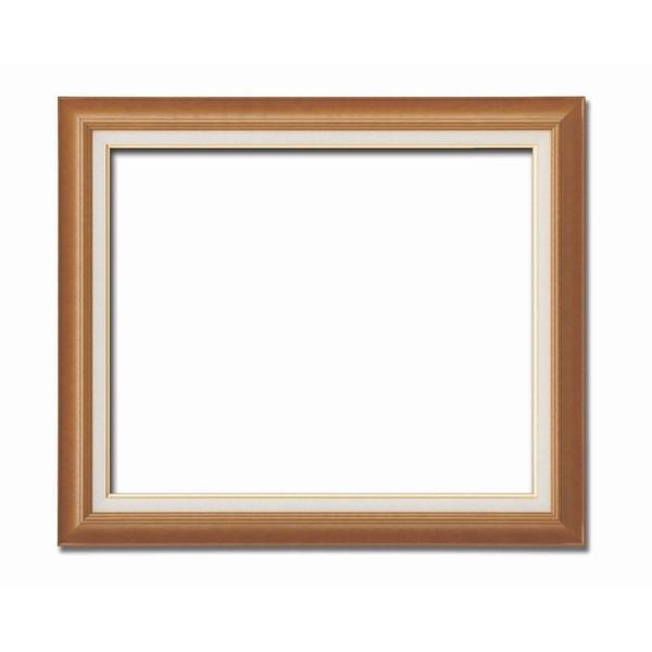 【油額】油絵額・キャンバス額・木製油絵額・茶色油絵額 ■F20号(727×606mm)「チーク」【同梱・代引不可】