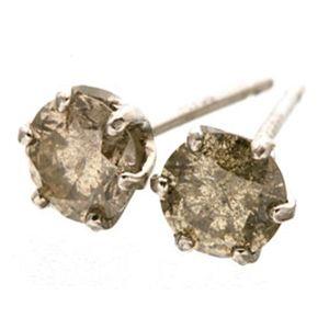 同梱・代金引換不可 Pt900 ブラウン ダイヤモンドピアス 0.5ct プラチナ