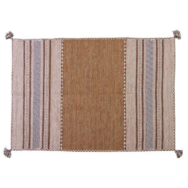 シェニールラグマット/絨毯 【190cm×130cm ベージュ】 長方形 コットン製 TTR-103BE【同梱・代引不可】