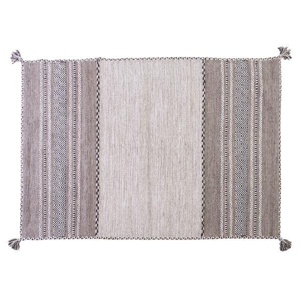 シェニールラグマット/絨毯 【190cm×130cm グレー】 長方形 コットン製 TTR-103GY【同梱・代引不可】