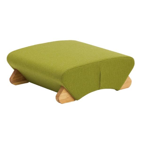 デザイン座椅子 脚:クリア/布:グリーン 【Mona.Dee モナディー】WAS-F【同梱・代引不可】