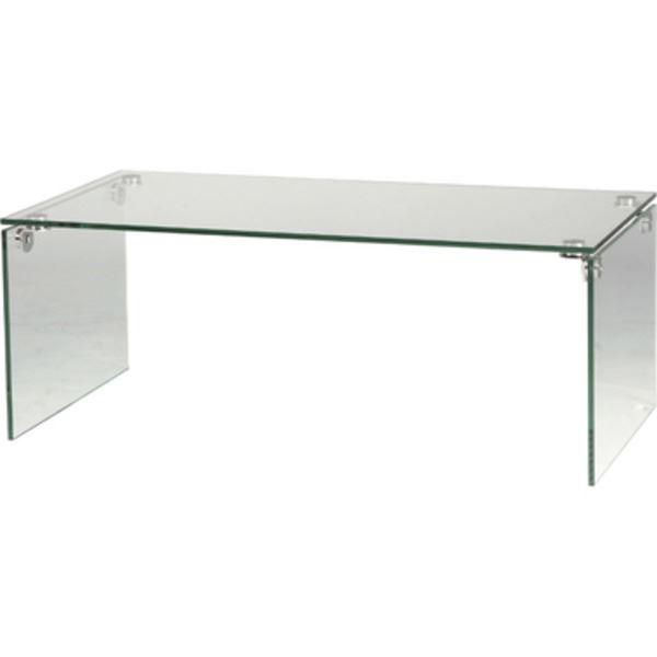 ローテーブル/強化ガラステーブル 長方形 ガラス天板 (リビング家具) PT-26【同梱・代引不可】