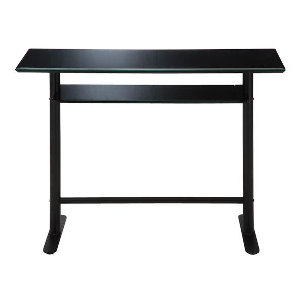 あずま工芸 TOCOM interior(トコムインテリア) カウンターテーブル 幅120cm 強化ガラス天板 ブラック GCT-2519【同梱・代引不可】