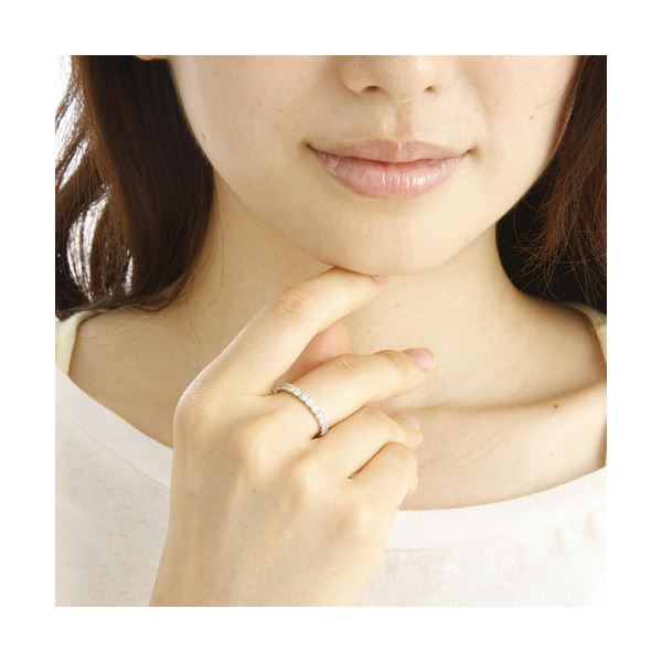 プラチナPt900 ダイヤリング 指輪 1ctエタニティリング 13号鑑別書付き同梱・NOw8vmn0
