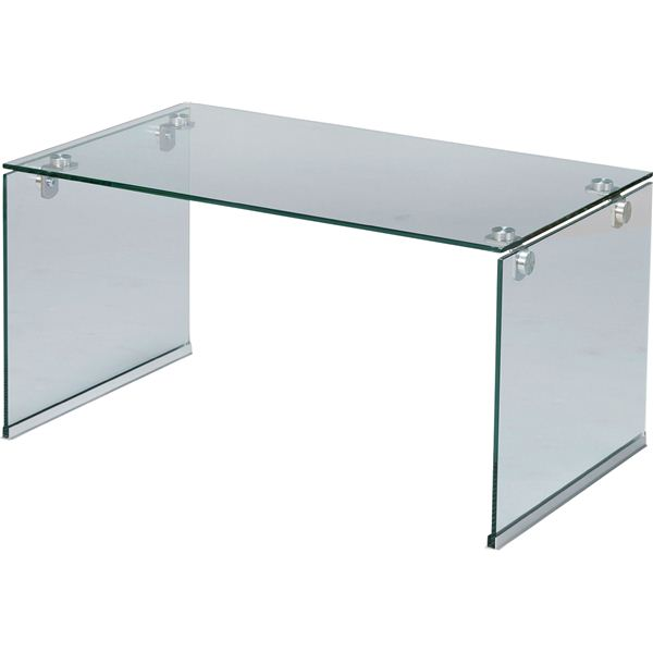 ローテーブル/強化ガラステーブルS 長方形 ガラス天板 (リビング家具) PT-28CL クリア【同梱・代引不可】