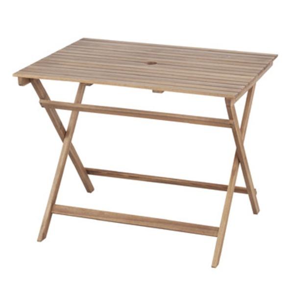 折りたたみ式テーブル 【Byron】バイロン 木製(アカシア/オイル仕上) 木目調 NX-903【同梱・代引不可】