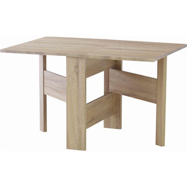 フォールディングダイニングテーブル/折りたたみテーブル 【幅120cm】 ナチュラル 木目調 『フィーカ』 FIK-103NA【同梱・代金引換不可】