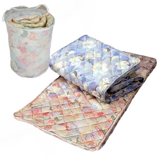 完全分離型 ピーチスキン加工生地使用ウォッシャブル3層敷布団 シングルサックス 日本製【同梱・代引不可】