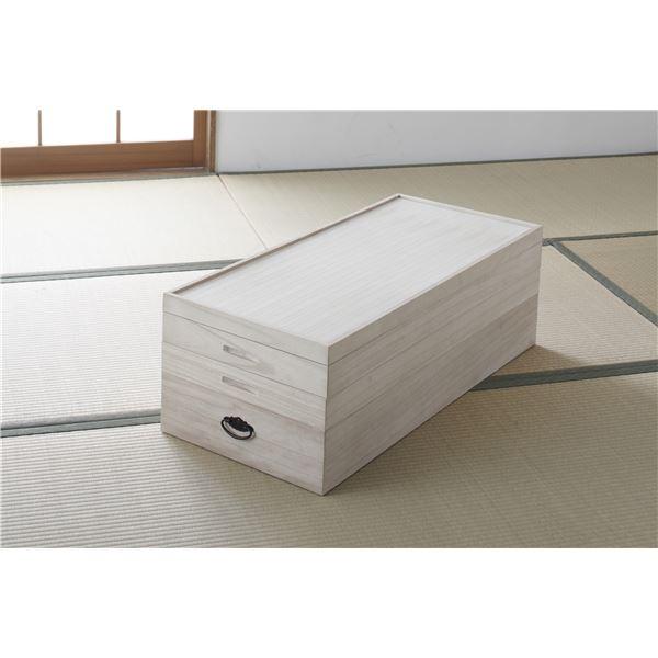たとう紙を折らずに収納できる桐衣装箱 収納箱 総桐衣裳ケース 桐箱 3段 幅91cm 代金引換不可 積み重ね可 同梱 完成品 高級な 日本製 ショッピング