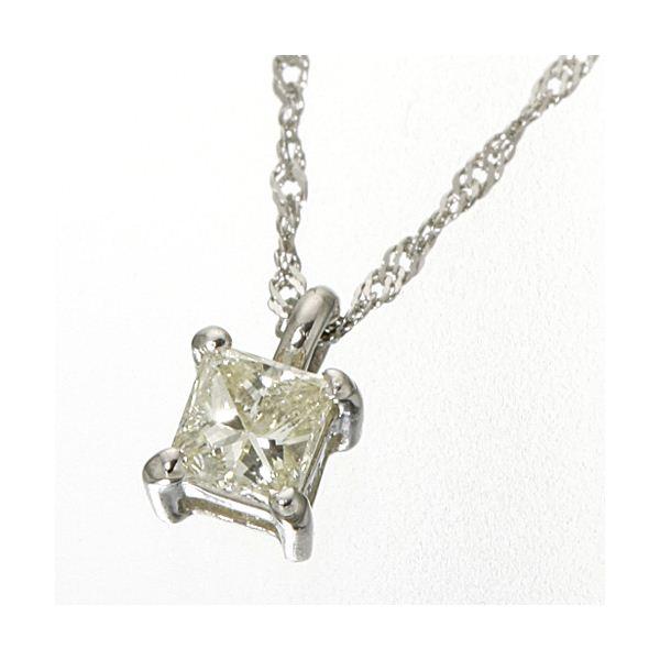 同梱・代金引換不可 0.15ctダイヤモンドプリンセスカットペンダント/ネックレス プラチナ