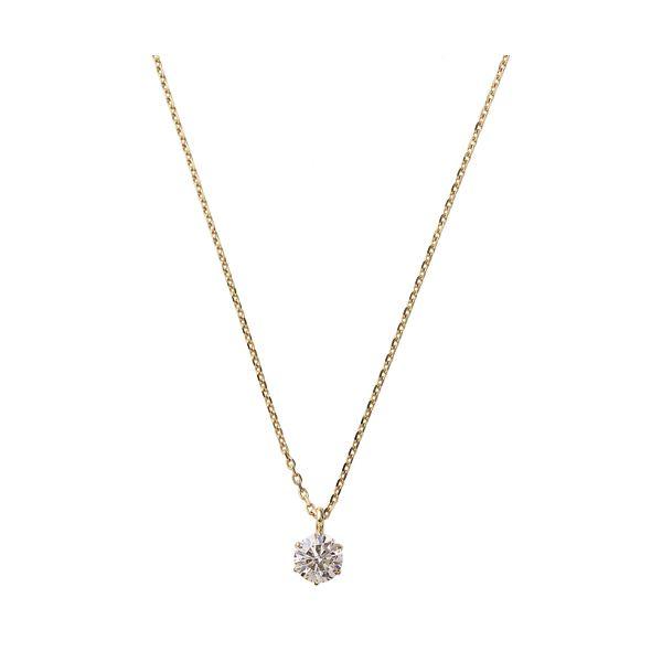 ダイヤモンド ネックレス 一粒 K18 ピンクゴールド 0.2ct ダイヤネックレス シンプル ペンダント【同梱・代引不可】