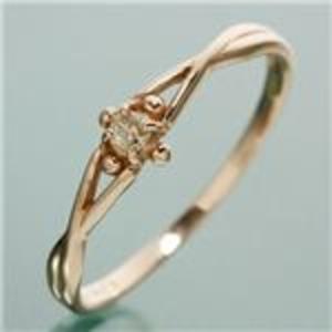 同梱・代金引換不可 K18PG ダイヤリング 指輪 デザインリング 17号