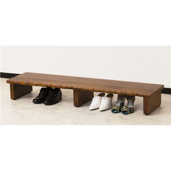 足腰への負担を軽減 安値 台の下に靴も置ける玄関ステップ 天然木玄関台 踏み台 ステップ 同梱 オープニング 大放出セール 幅120cm 完成品 アジャスター付き 代金引換不可
