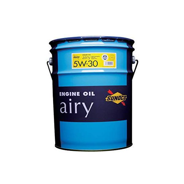 エンジンオイルSUNOCO(スノコ) 省燃費 半化学合成エンジンオイル airy 5W-30 API-SM CF4 20Lペール缶 【代引不可】【同梱不可】
