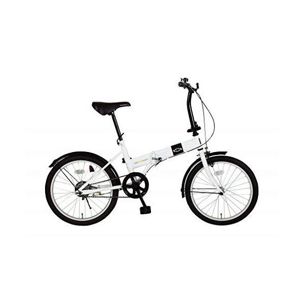 【クーポンで300円OFF】 折りたたみ自転車 CHEVROLET シボレー FDB20R MG-CV20R ホワイト 20インチ 小型自転車 【代引不可】【同梱不可】
